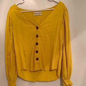 Yellow Urban Outfitters Blouse